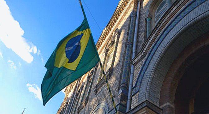 Fachada da embaixada brasileira em Moscou Foto: Marina Korobkova_Focuspictures