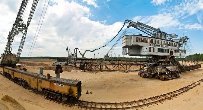 A mina de fosfato Lopátinski, situada a 90 km de Moscou Foto: Aleksêi Zaitsev