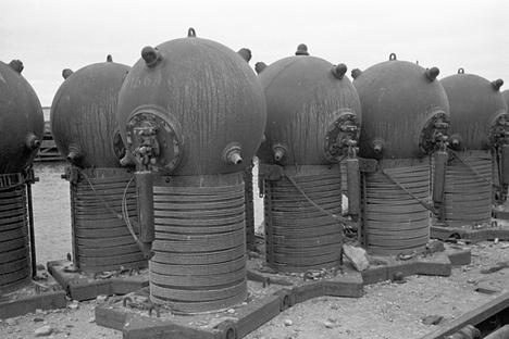 Naval mines, 1920s. Source: Rossiyskaya Gazeta