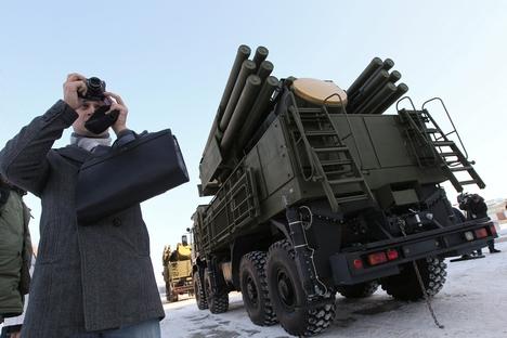 O novo míssil permitirá aumentar a lista de objetivos que o Pantsir-S1 será capaz de acertar Foto: RIA Nóvosti