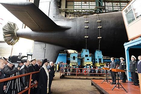 Novo submarino nuclear será equipado com os mísseis antinavio 3M55 Onix Foto: Vladímir Rodionov/RIA Nóvosti