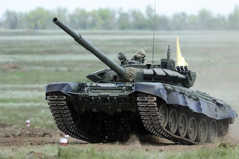 T-72 at the tank biathlon, 2014.