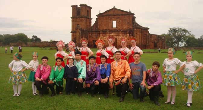 Grupo Folclórico Russo Troyka Foto: arquivo pessoal