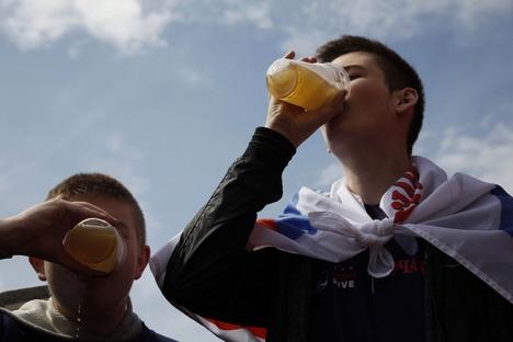 Contrariando o esteriótipo popular, o consumo de cerveja na Rússia superou o de vodca Foto: PhotoXpress
