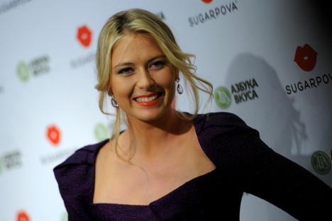 """Maria Sharapova liderou o ranking da revista """"Forbes"""" das 50 celebridades russas mais famosas Foto: ITAR-TASS"""