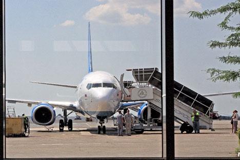As companhias aéreas russas já voam regularmente para a península, se protegendo juridicamente sob a legislação russa Foto: ITAR-TASS