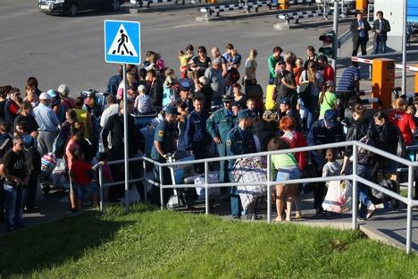 Refugiados que decidirem ficar na Rússia terão também a possibilidade de  obter assistência financeira Foto: ITAR-TASS