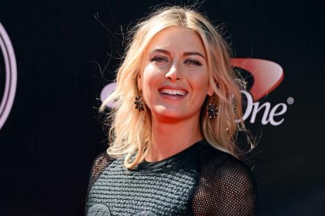 """Sharapova também lidera o ranking das 50 estrelas russas do showbusiness e esporte composto pela """"Forbes"""" russa Foto: AP"""