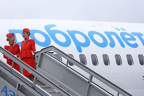 Dobrolet anunciou a suspensão temporária das operações, que ocorreu porque empresas de leasing anularam os contratos com a companhia aérea russa por causa das sanções da UE Foto: Vostock Photo