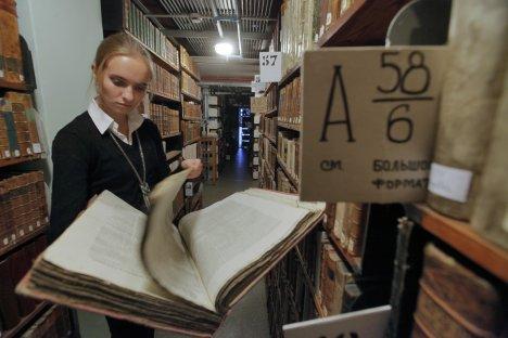 O Ministério da Cultura russo planeja liberar o acesso a mais de 6 milhões de arquivos dos acervos da Biblioteca Eletrônica Nacional Foto: Aleksêi Kudenko/RIA Nóvosti