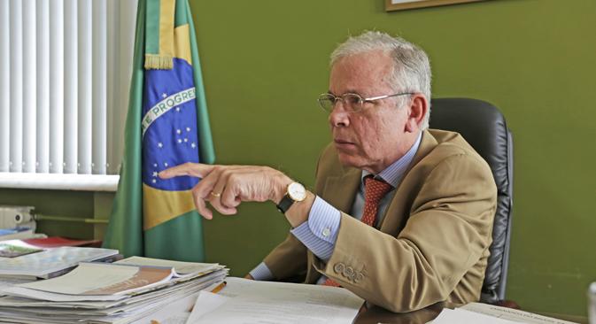 """""""O Brasil e a Rússia têm relações muito boas que se têm fortalecido ao longo dos anos"""" Foto: Pável Gazdiuk/Gazeta Russa"""