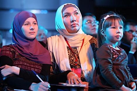 Durante o evento, foram exibidos filmes da Alemanha, Itália, França, Inglaterra, Turquia, Rússia, Irã, Iraque, Belarus e de países árabes Foto: ITAR-TASS