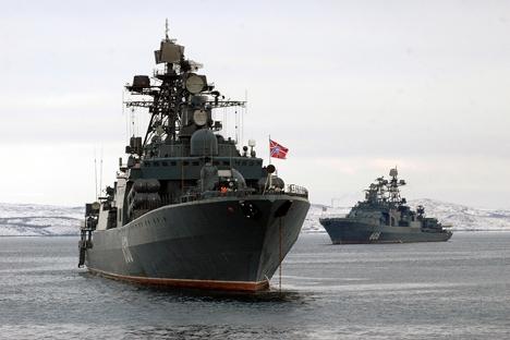 A presença militar russa no Ártico, bem como a construção desta base, é carregada de um significado geoestratégico profundo Foto: ITAR-TASS