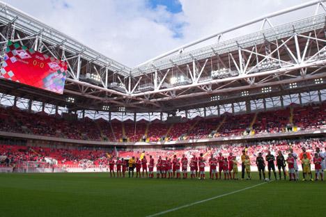 Estádio comporta 42.000 espectadores e ocupa uma área de quase 54 mil metros quadrados Foto: Agência municipal de noticias de Moscou