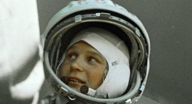 """""""No final de 1961, fui convidada a fazer provas para cosmonauta, paralelamente a muitos atletas de clubes de aviadores de Moscou"""", conta Terechkova Foto: Grigóri Sissóiev/RIA Nóvosti"""