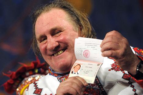 Ator francês Gérard Depardieu recebeu cidadania russa no início de 2013 Foto: TASS