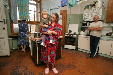 The kitchen in a modern communal apartment in Moscow. Source: TASS