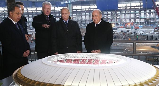 Além da construção de estádios, está previsto o desenvolvimento de estruturas de transporte e hotelaria Foto: Konstantin Zavrájin/RG