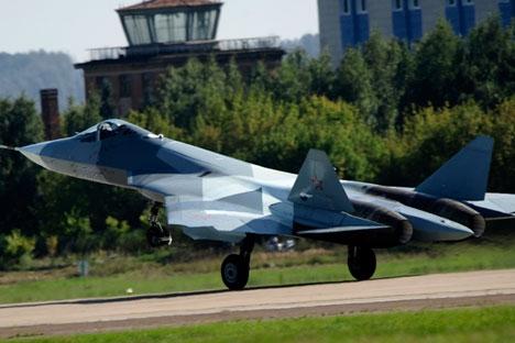 PAK FA será a única plataforma russa equipada com um míssil antirradar alojado dentro da fuselagem Foto: Photoshot/Vostock-Photo