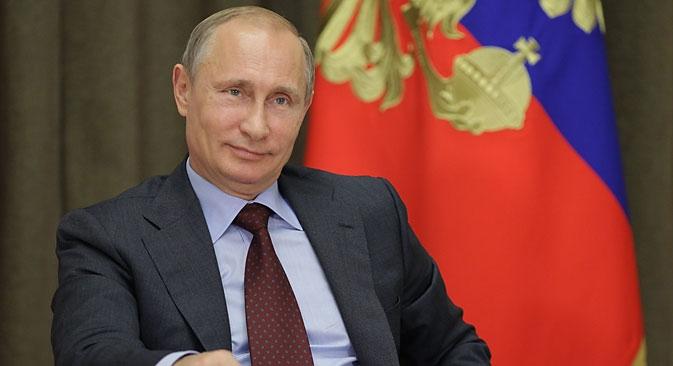 Presidente manifestou esperança de que a Sociedade Geográfica Russa consiga fortalecer amor pelo país Foto: Oléssia Kurpiáieva/RG