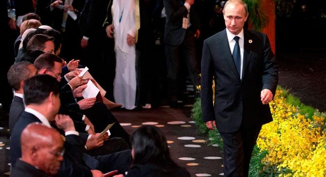 Em meio a críticas, Pútin regressou a Moscou antes do final da reunião Foto: Reuters