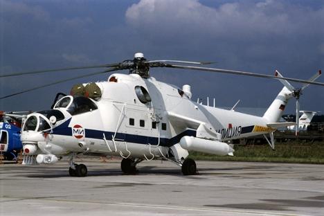 O Mi-35M é um helicóptero de combate equipado com armamentos de precisão Foto: RIA Nóvosti
