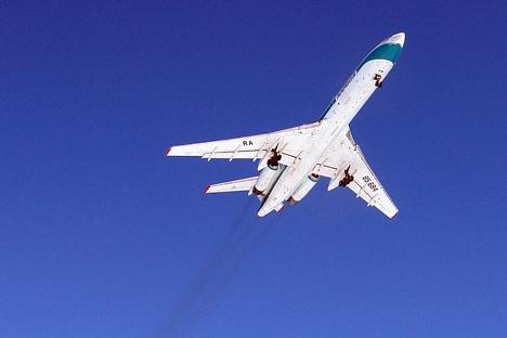 A aeronave está proibida de pousar ou desviar-se da rota previamente aprovada Foto: Mikhail Melnitchuk / RIA Novosti