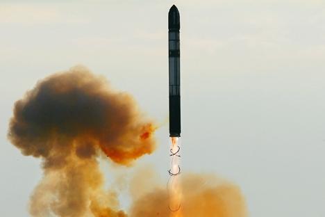 """Novo míssil é considerado """"pesado"""", por possuir massa superior a 105 toneladas Foto: Vladímir Fedorenko/RIA Nóvosti"""