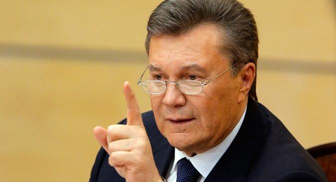 """Ianukovitch: """"A oposição ultrapassou completamente os limites da lei e começou a armar os manifestantes"""" Foto: Reuters"""