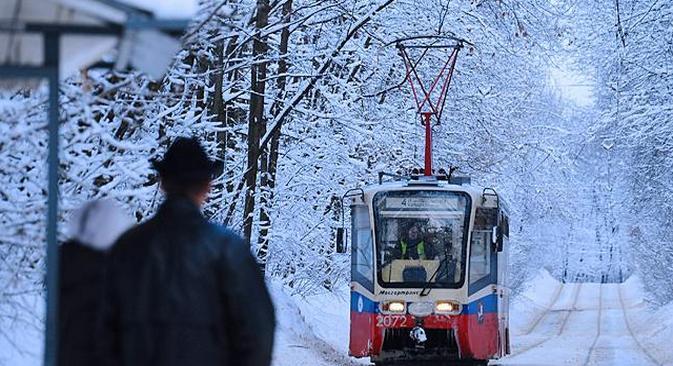 A melhor maneira de passear por Moscou é mesmo de bonde Foto: PhotoXPress
