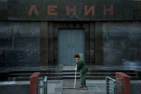 Manifestação ocorreu dois dias antes do aniversário de morte do líder soviético Foto: AFP/East News