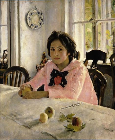 """""""Menina com pêssegos"""" Foto: Galeria de Tretiakov"""