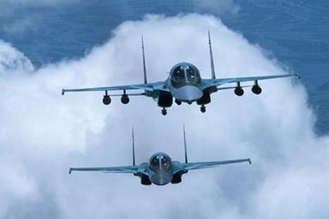 Os aviões russos foram detectados quando sobrevoavam o Canal da Mancha, no sul da Inglaterra Foto: divulgação