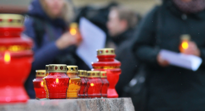 Atualmente, a cidade de Moscou possui apenas um monumento dedicado às vítimas das perseguições políticas Foto: Vitáli Beloussov/RIA Nóvosti