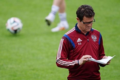 Rússia deve sete meses de salário a treinador da seleção Fabio Capello Foto: Aleksêi Filipov/RIA Nóvosti