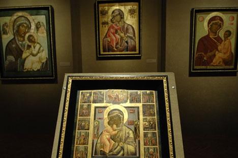 """A exibição """"Ícones Russos"""" é composta por mais de 40 peças Foto: TASS"""