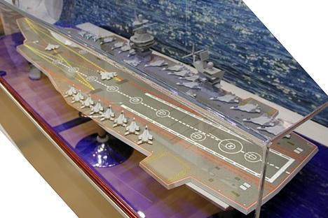Maquete representa ponto de partida do navio, que poderá incluir características específicas de acordo com requisitos apresentados pelos clientes Foto: Press Photo