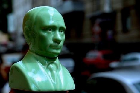 Saleiro em formato do busto de Pútin Foto: Assessoria de imprensa