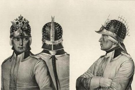 Capacetes da Cavalaria, 1799  Foto: divulgação