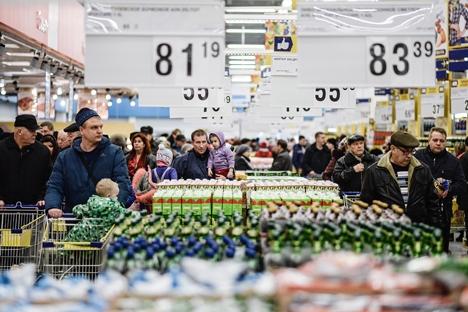 Preços dos produtos alimentícios no país aumentaram 16,7% no ano passado Foto: Konstantin Chabalov/RIA Nóvosti