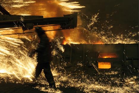 Fábrica metalúrgica na cidade de Níjni Taguil Foto: Donat Sorókin/TASS