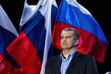 Serguêi Aksionov, o governador da Crimeia Foto: Reuters