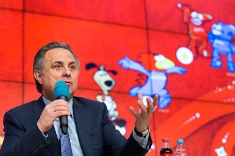 Em coletiva de impresa, ministro dos Esportes explicou etapas para seleção do mascote para Rússia-2018 Foto: AP