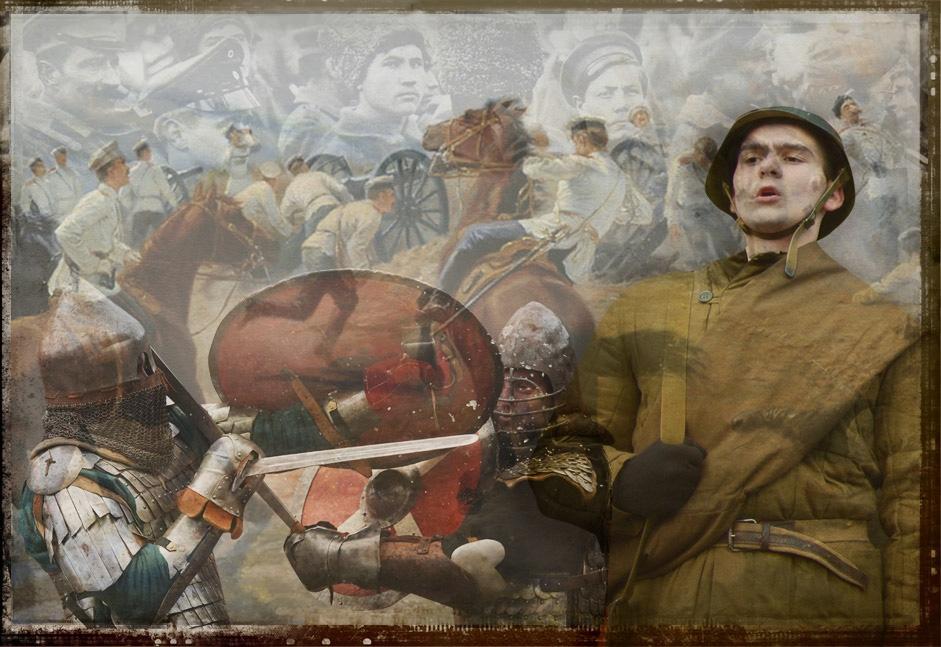 A história dos uniformes militares russos width=