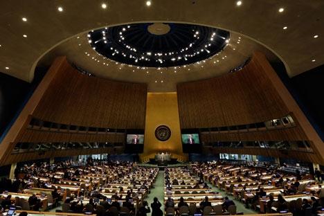 Überprüfungskonferenz zum Atomwaffensperrvertag: Russland sieht  keine Gefahr eines Atomkrieges. Foto: AP