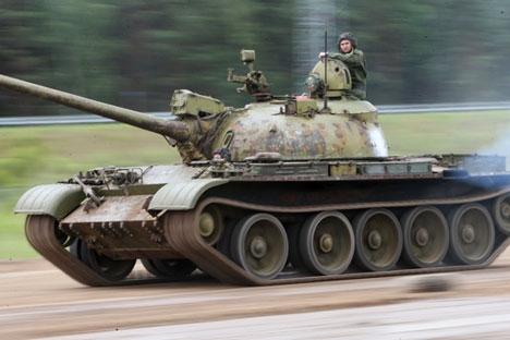 A T-55 tank, 2014. Source:  Egor Eryomov / RIA Novosti