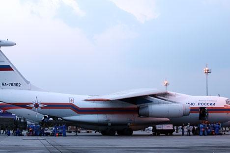 Avião Ilyushin Il-96 decolou do aeródromo Ramenskoie, nos arredores de Moscou, na noite de domingo passado Foto: TASS