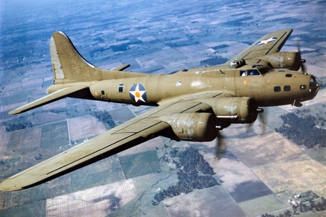 Boeing B-17E in flight, 1942. Source: U.S. Air Force