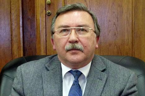 Michail Uljanow ist Direktor des Departements zu Fragen der Nichtverbreitung und Rüstungskontrolle des Außenministeriums der Russischen Föderation und leitet die russische Delegation in New York
