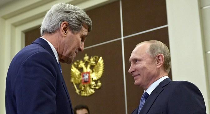 Kerry afirmou que cumprimento de acordos de Minsk é essencial para retirada de sanções contra a Rússia. Foto: Aleksêi Nikolski/Ria Nóvosti